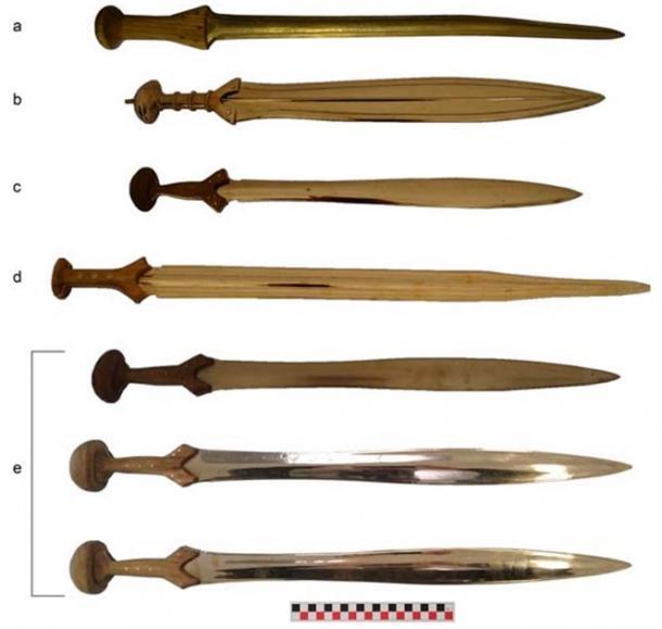 Las réplicas de la Edad de Bronce utilizadas en el estudio. (R. Herman et al. / / Journal of Archaeological Method and Theory)