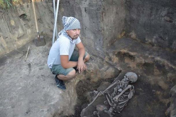 Un entierro encontrado en el valle de Arkaim en agosto de 2017. (Аркаим)