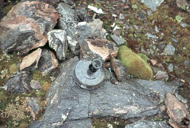 El quemador de petróleo de Brønlund se encontró en 1973. (Jørn Ladegaard)