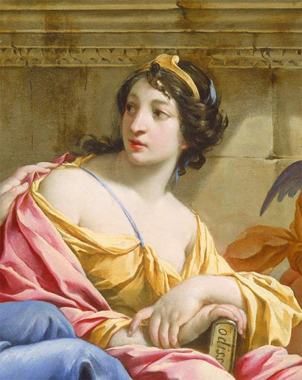 La musa Calliope con una copia de la Odisea. (Hohum / Dominio público)