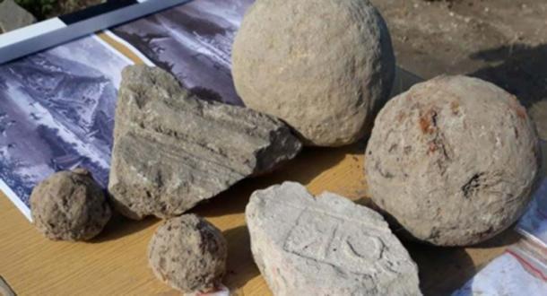 Bolas de cañón y otros artefactos encontrados en la Fortaleza Zishtova. (Municipio de Svishtov)