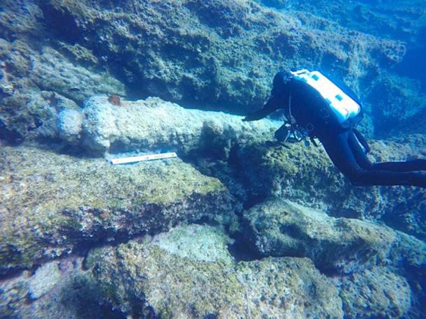 Cañón de hierro descubierto en naufragio. (Ministerio de Cultura / Facebook)