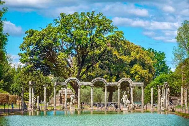 """ol área del jardín Canops de la Villa Adriánica, inspirada en la ciudad costera """"turística"""" del mismo nombre en Egipto. (Luca Lorenzelli / Adobe Stock)"""