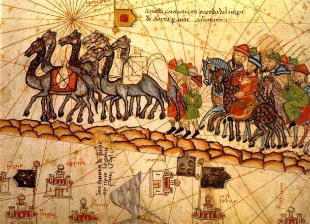 Representación del siglo XIV de una caravana de camellos en la Ruta de la Seda. (Dominio público)