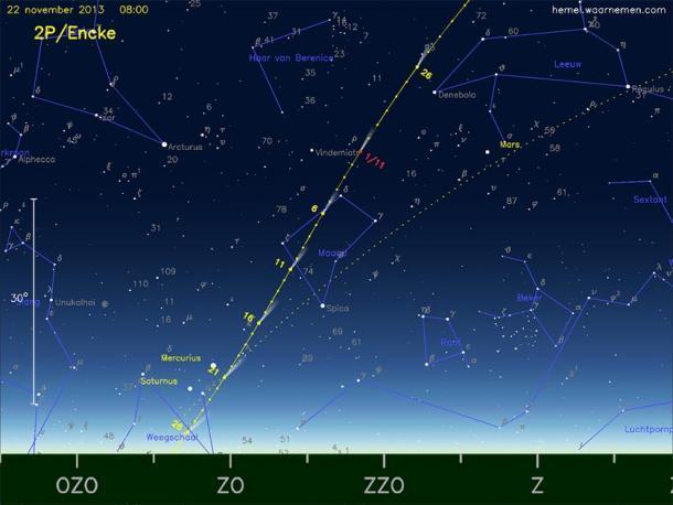 Carolina Herschel observó el cometa 2P / Encke. (AstroFloyd / CC BY-SA 3.0)