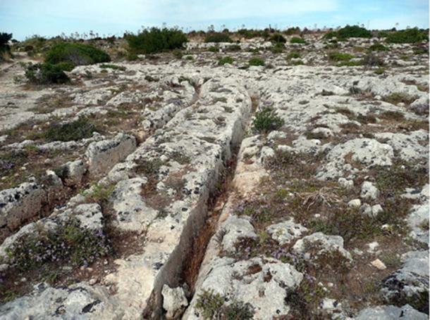 Carritos de rodadura en Misrah Ghar il-Kbir, Malta. (Lysy / CC BY SA 3.0)