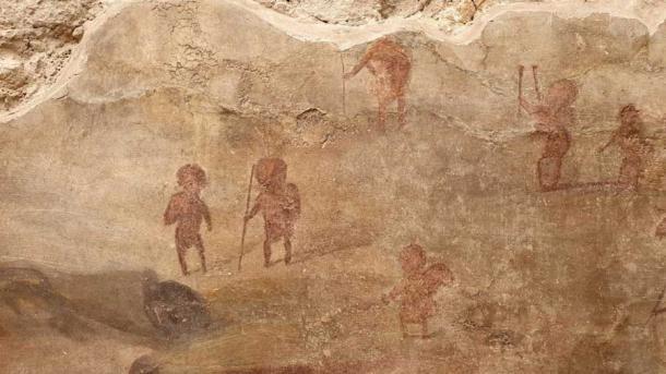 Escenas de todas partes adornan otras paredes como la Casa dei Ceii. (Sitios de Pompeya)