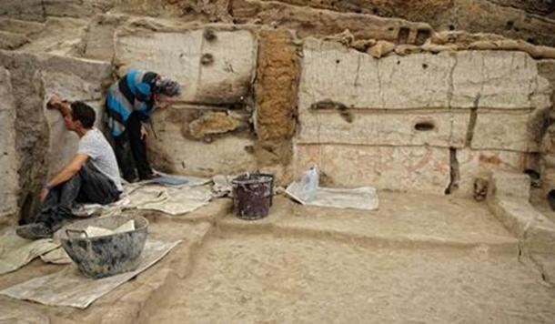 Casa en Çatalhöyük en excavación. (Scott Haddow)