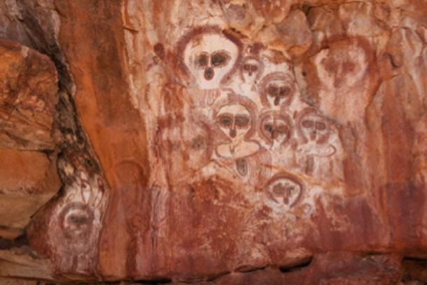 Pinturas rupestres en Australia, donde la gente antigua usaba psilocibina psicoactiva. (Tillman / CC BY-SA 2.0)