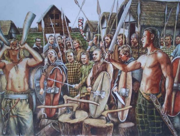 """Representación de los celtas de la Edad del Hierro. (El Blog de """"Acebedo"""")"""