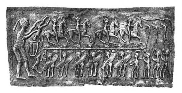 Los chakras y el renacimiento se representan en esta placa del Caldero Gundestrup. (Autor proporcionado)