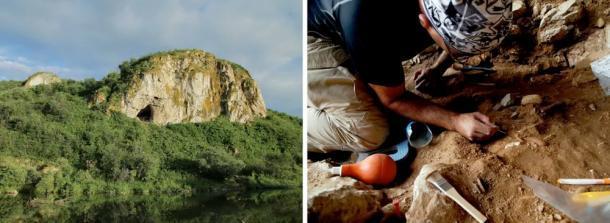 Cueva Chagyrskaya en las montañas de Altai en el sur de Siberia y excavación de los depósitos arqueológicos. Instituto de Arqueología y Etnografía de la Rama Siberiana de la Academia de Ciencias de Rusia, autor proporcionado