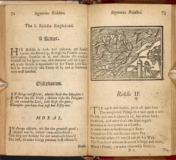 """El libro para niños de 1737, """"Entretenimientos de invierno y noche"""", incluye cuentos morales. (Biblioteca Británica / Dominio Público)"""