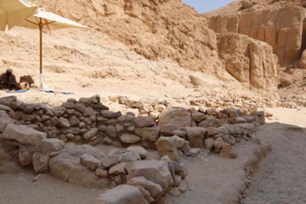 Se descubrieron antiguas chozas de trabajo de los trabajadores. (Ministerio egipcio de antigüedades)