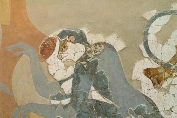 Mono retratado en arte minoico en Akrotiri, Grecia. (ZDE / CC BY-SA 3.0 )