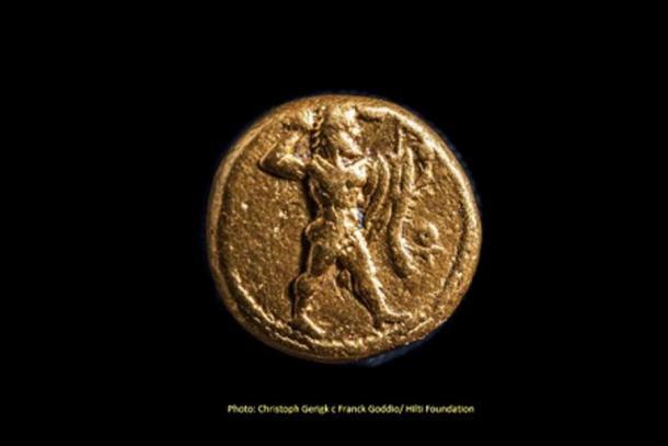 Moneda recuperada del sitio. (Christoph Gerigk - Frank Goddio / Fundación Hilti / Autoridad de Antigüedades de Egipto)