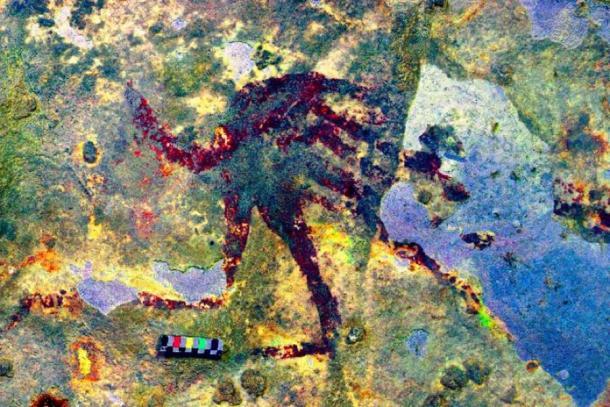 Therianthrope figura de un humano con una cola. (Crédito: Ratno Sardi)