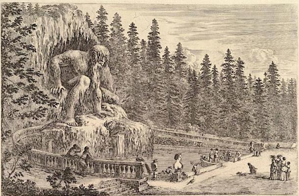 Colosal estatua del gigante Appenino. (Picryl / Dominio público)