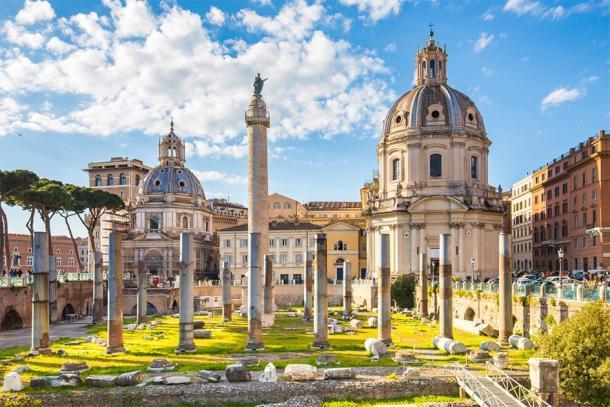 La columna de Trajano, que conmemora la victoria en las Guerras de Dacia (orpheus26 / Adobe Stock)