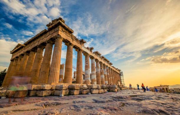 Columnas del Partenón en la Acrópolis de Atenas. (Alex Green/ Adobe Stock)
