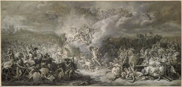 El combate de Diomedes mientras conducía a las tropas a la Guerra de Troya. (DcoetzeeBot / Dominio público)