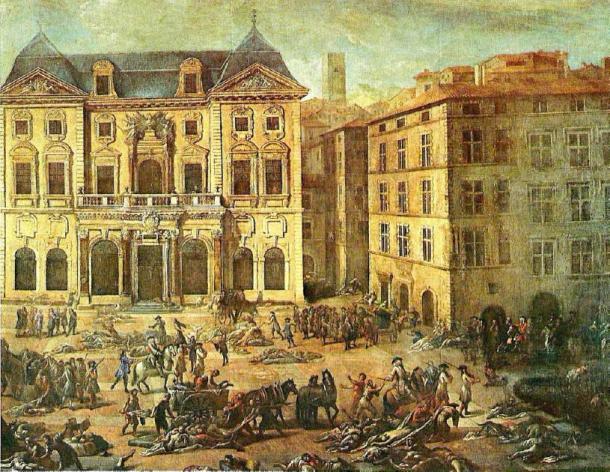 Grabado contemporáneo de Marsella durante la Gran Peste en 1720. (Rvalette / CC BY-SA 4.0)