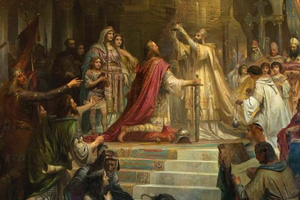 """Coronación imperial de Carlomagno"", por Friedrich Kaulbach, 1861. (Dominio público)"