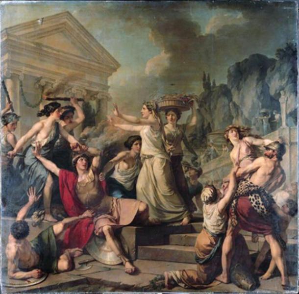 El coraje de las mujeres de Esparta. (Jean-Jacques-François Le Barbier / Dominio público)