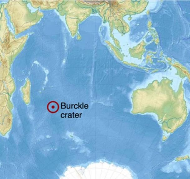 Ubicación del cráter Burckle en el Océano Índico. (Uwe Dedering / CC BY-SA 3.0)