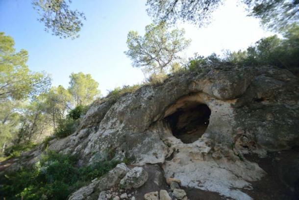 El sitio de la cueva Foradada (Calafell, Tarragona). (© Antonio Rodríguez-Hidalgo / Universidad de Barcelona)