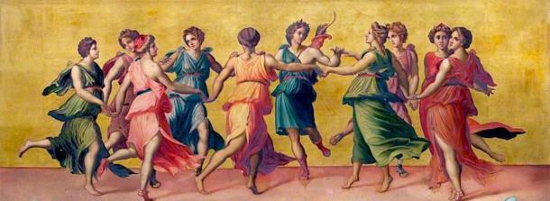 Danza de Apolo y las nueve musas. (Shuishouyue / Dominio público)