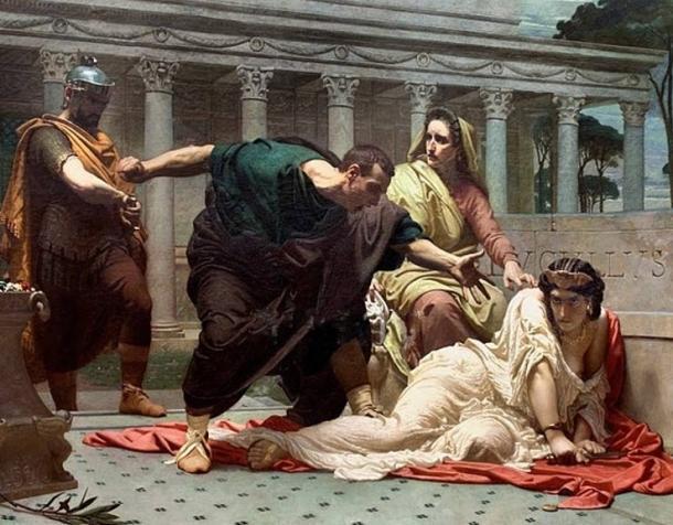 """""""La muerte de Valeria Messalina"""", de Victor Biennoury (1823-1893). (Dominio publico)"""