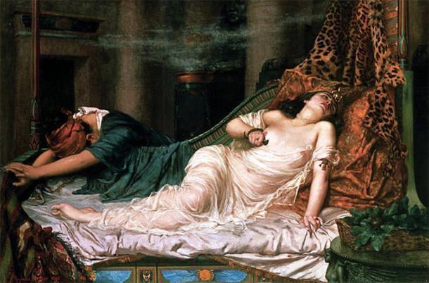 La muerte de Cleopatra por Reginald Arthur (1871-1934) (Dominio público)