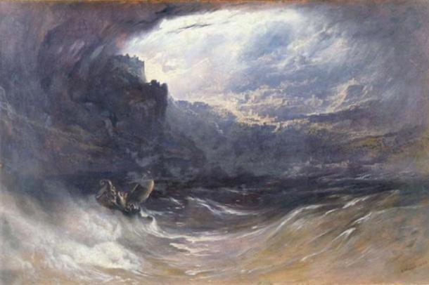 El diluvio, por John Martin, 1834. Universidad de Yale (dominio público)
