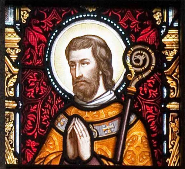 Representación del santo irlandés de los siglos VI y VII Máedóc, también conocido como Mogue y Aidan, en la Catedral de St. Aidan, Enniscorthy, Condado de Wexford, Irlanda. (Andreas F. Borchert / CC BY-SA 3.0)