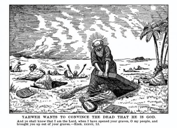 Representación del dios Yahweh tratando de convencer a los muertos de que él es dios. (Watson Heston / CC BY-NC-SA 2.0)