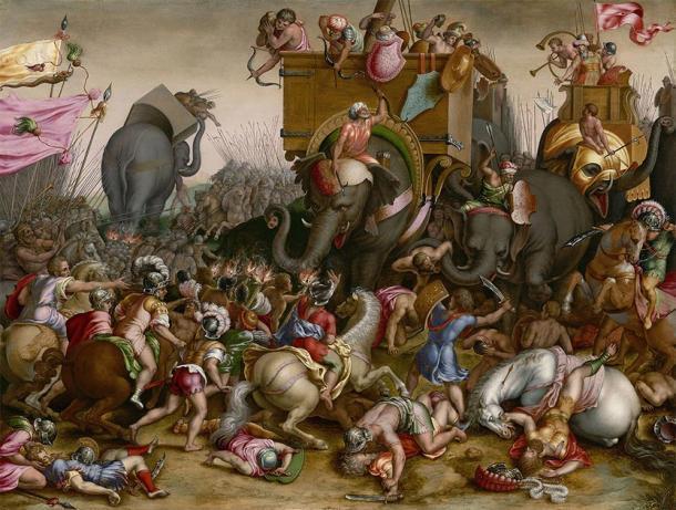 Representación de Aníbal y los cartagineses luchando en la batalla. (Instituto de Arte de Chicago / Dominio público)