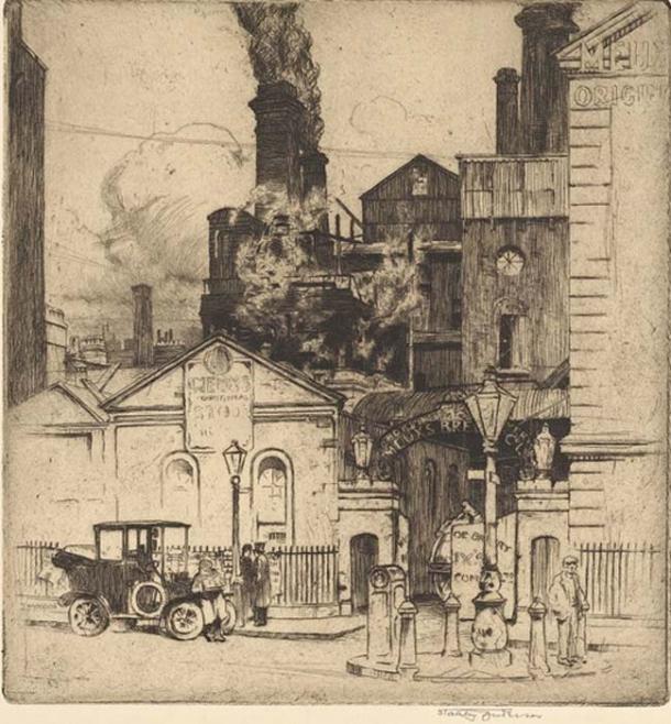 Después de la investigación del London Beer Flood, la cervecería continuó produciendo cerveza y recibió una exención de impuestos por su pérdida. (Fæ / Dominio Público)