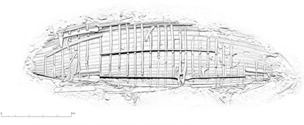 Diagrama del naufragio vikingo. (Massimiliano Ditta)