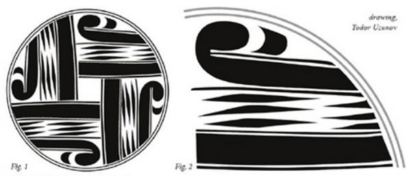Dibujo del diseño en la placa dorada de Varna. (Todor Uzunov)