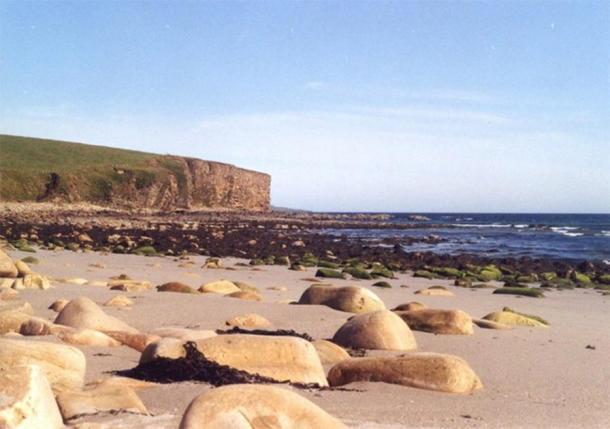 Playa Dingieshowe en Orkney, cerca de donde se encontró la cosa vikinga. (Fabio Sassi / CC BY-SA 2.0)