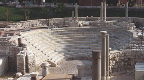 Descubrimiento de las ruinas de Roma, sitio del antiguo mosaico. (Ministerio de Antigüedades / Facebook)