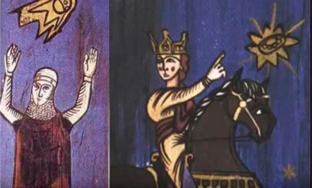 Estos tapices de dos cruzados datan del siglo XII. (RayLovesRomania / YouTube)
