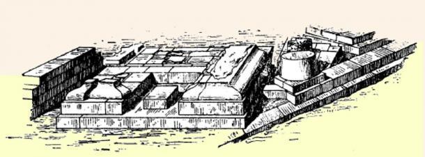 Dibujo del Lapis Níger excavado en el Foro Romano. (Vittalio / Dominio público)