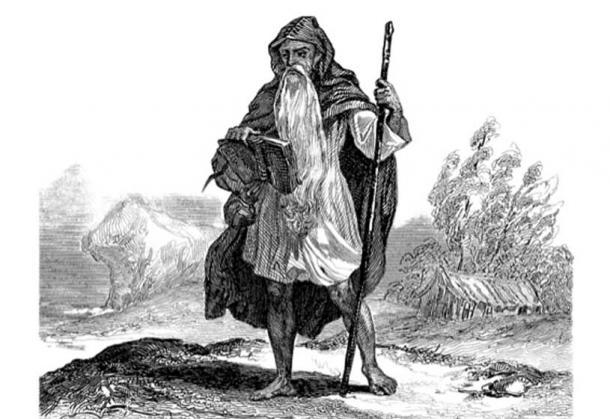 Ilustración de un druida celta. Crédito: : Erica Guilane-Nachez / Adobe Stock