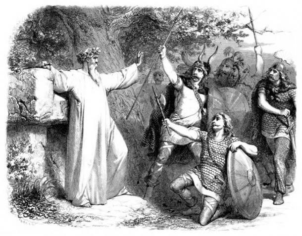 Un druida y guerreros en la Galia. (Erica Guilane-Nachez / Adobe Stock)