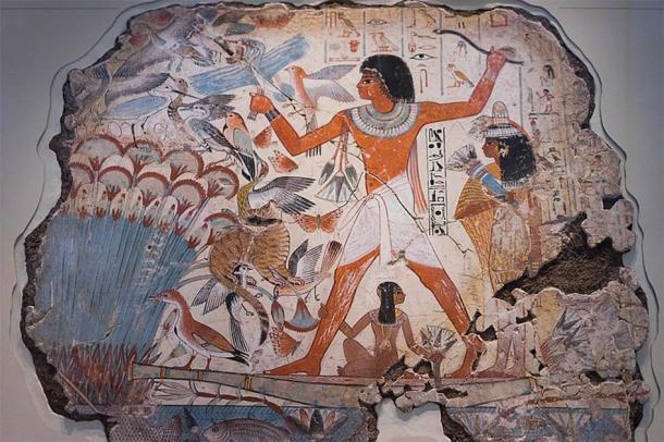 Escena de caza del Antiguo Egipto de la Tumba de Nebamun. Se han descubierto millones de momias de animales y pájaros en Egipto, lo que significa que la caza de pájaros para rituales religiosos era muy común. (Paul Hudson / CC BY 2.0)