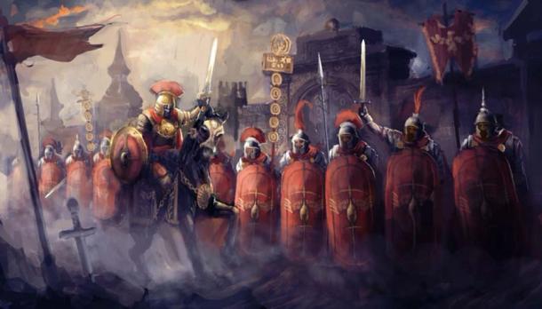 Representación de un ejército romano antes de la batalla. (vukkostic/ Adobe stock)