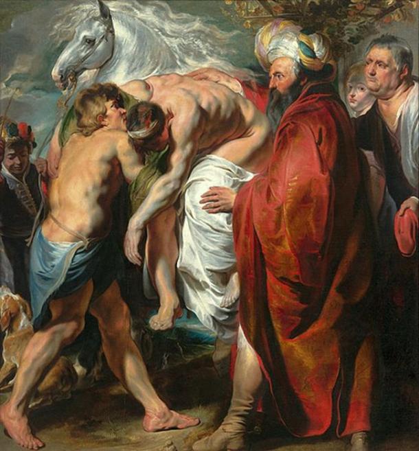 El buen samaritano llevó al hombre a una posada y lo cuidó. (Vert / Dominio Público)