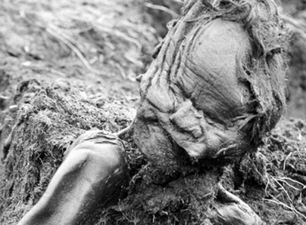 El cuerpo del Hombre de Grauballe tras su descubrimiento. (Gourami Watcher / Dominio Público)